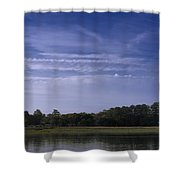 Wilmington River Savannah Morning Shower Curtain