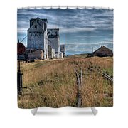 Wilsall Grain Elevators Shower Curtain