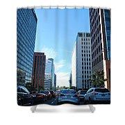 Wilshire Blvd  - West La Traffic Shower Curtain