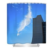 Wilson Hall At Fermilab With Cloud Shower Curtain