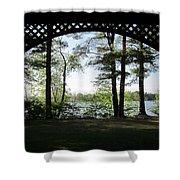 Wilson Pond Framed Shower Curtain