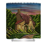 Wiltshire At Sunset Shower Curtain