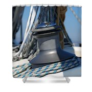Winched Shower Curtain