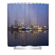 Winchester Bay Fishing Boats Shower Curtain
