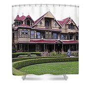 Winchester Mystery House Shower Curtain by Daniel Hagerman