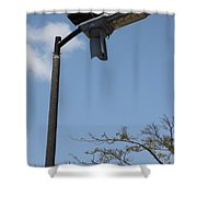 Wind And Solar Powered Light Shower Curtain
