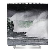 Wind And Waves In Oregon Shower Curtain