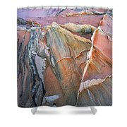 Wind Blown Sand Texture Shower Curtain