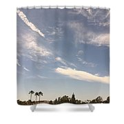Wind Currents Over Palms Shower Curtain