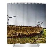 Wind Driven Shower Curtain