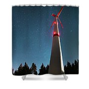 Wind Energy Plant Shower Curtain