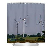 Wind Generators Shower Curtain