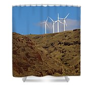 Wind Generators-signed-#0368 Shower Curtain