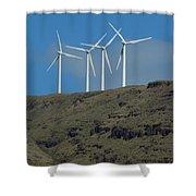 Wind Generators-signed-#0371 Shower Curtain