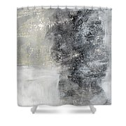 Wind In My Sails- Abstract Art Shower Curtain