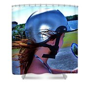Wind In The Hair Shower Curtain