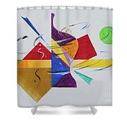 Wind Me Up Shower Curtain