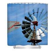 Wind Mill Pump In Usa 2 Shower Curtain
