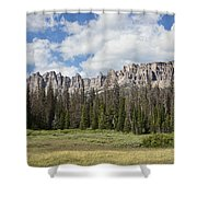 Wind River Mountains Shower Curtain