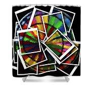Wind Spinner Collage Shower Curtain