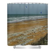 Wind Surfing In Flagler Shower Curtain