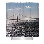Wind Surfing Under The Bridge Shower Curtain