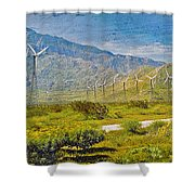 Wind Turbine Farm Palm Springs Ca Shower Curtain