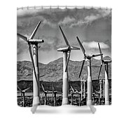 Wind Turbines Palm Springs Shower Curtain