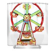 Wind-up Ferris Wheel Shower Curtain