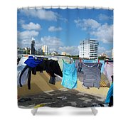 Wind Worn Rooftop Shower Curtain