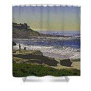 Windansea Texture Shower Curtain