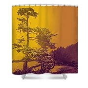 Windblown At Twilight Shower Curtain