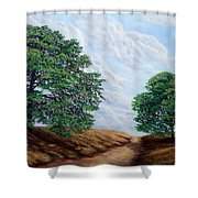 Windblown Clouds Shower Curtain