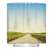 Windfarm Way Shower Curtain