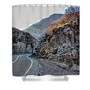 Winding Canyon Road Shower Curtain