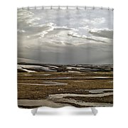 Winding Rivers Shower Curtain