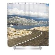 Winding Road In Croatia Shower Curtain