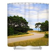 Winding Road Into The Unknown Shower Curtain