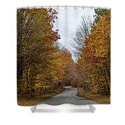 Winding Road Of Awenda Shower Curtain