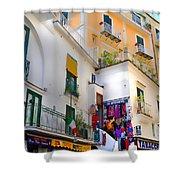 Winding Through Amalfi Shower Curtain