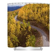 Winding Through Fall Shower Curtain by Wesley Aston