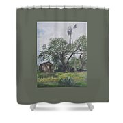 Windmill At Genhaven Shower Curtain