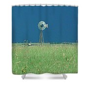 Windmill Before Storm Shower Curtain