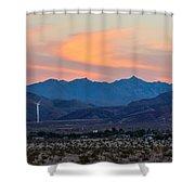 Windmill Desert Sunset Shower Curtain