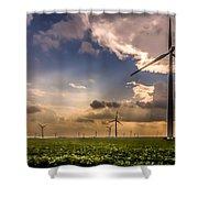 Windmill Farm Shower Curtain