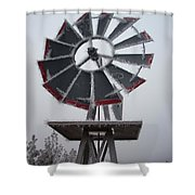 Windmill Frost Shower Curtain