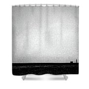 Windmill In Black And White Shower Curtain