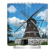 Windmill In Fleninge,sweden Shower Curtain