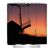 Windmill In The Afterglow. Shower Curtain