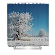 Windmill In The Frost Shower Curtain